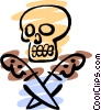 Vector Clip Art graphic  of a Skull