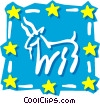 Sign of the zodiac - Capricorn Vector Clip Art image