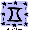 Sign of the zodiac - Gemini Vector Clipart illustration