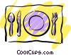 Vector Clip Art image  of a Place setting