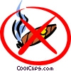 Vector Clip Art graphic  of a No smoking sign