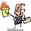 Cool office man Vector Clipart picture