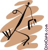 Vector Clip Art picture  of a People petroglyphs