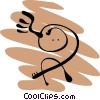 People petroglyphs Vector Clipart picture