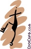 Vector Clipart graphic  of a People petroglyphs