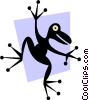 Vector Clip Art picture  of a Frogs