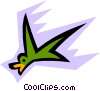 Vector Clip Art graphic  of a Birds