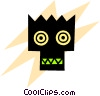 Vector Clip Art graphic  of an Aliens