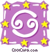 Vector Clipart illustration  of a Sign of the zodiac - Cancer