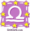 Vector Clip Art graphic  of a Sign of the zodiac - Libra
