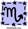 Sign of the zodiac - Scorpio Vector Clipart graphic