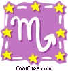 Vector Clipart graphic  of a Sign of the zodiac - Scorpio