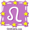 Vector Clip Art picture  of a Sign of the zodiac - Leo