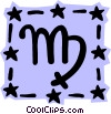 Sign of the zodiac - Virgo Vector Clip Art graphic