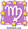 Vector Clip Art graphic  of a Sign of the zodiac - Virgo