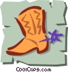 Vector Clipart picture  of a Cowboy boots