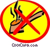 Vector Clip Art image  of a No smoking sign