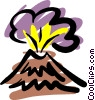 Vector Clipart picture  of a Volcanoes