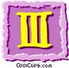 Vector Clip Art graphic  of a Roman numerals