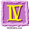 Vector Clipart picture  of a Roman numerals