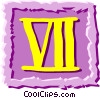 Roman numerals Vector Clip Art graphic