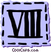 Vector Clipart image  of a Roman numerals