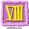 Vector Clipart graphic  of a Roman numerals
