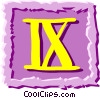 Roman numerals Vector Clipart illustration