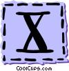 Vector Clip Art image  of a Roman numerals