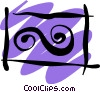 Vector Clipart graphic  of a Wigglies and squiggles