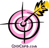 Vector Clip Art picture  of a Bull's-eye