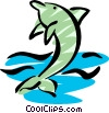 Vector Clipart picture  of a Cool dolphin