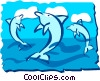 Vector Clip Art graphic  of a Dolphin