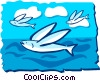 Flying fish Vector Clipart illustration