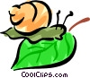 Vector Clipart illustration  of a Snail
