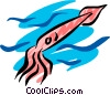Vector Clip Art picture  of a Squid