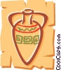 Vector Clipart picture  of a Vases