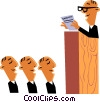 Vector Clip Art picture  of a Meeting