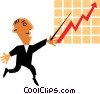 Sales charts Vector Clip Art picture