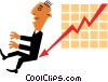 Sales charts Vector Clipart graphic