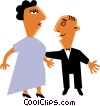 Couple Vector Clipart graphic
