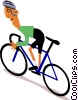 Cyclists Vector Clip Art picture