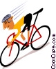 Vector Clip Art graphic  of a Cyclists