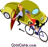 Cyclists Vector Clipart image