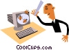 Computer viruses Vector Clip Art picture