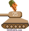 Vector Clipart graphic  of a Tank