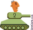 Vector Clip Art graphic  of a Tank