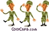 Vector Clip Art image  of a Troops