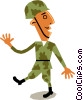 Soldier marching Vector Clipart graphic