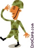 Vector Clipart illustration  of a Troops